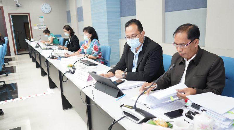 ผู้อำนวยการสำนักงานอธิการบดี ประชุมคณะกรรมการบริหารมหาวิทยาลัย(ก.บ.) ครั้งที่ 2/2564